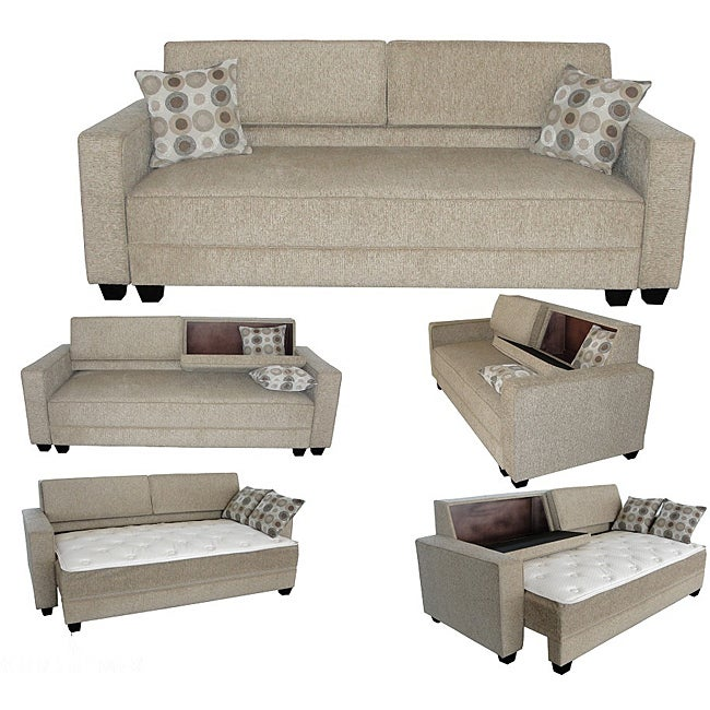 Madrid convertible sofa bed free shipping today for Sectional sofa bed overstock