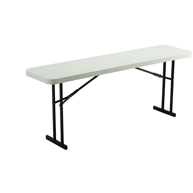 Lifetime Six-foot White-granite Foldable Table