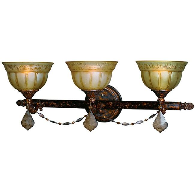 Woodbridge Lighting Lucerne 3-light Old World Bronze Bath Bar