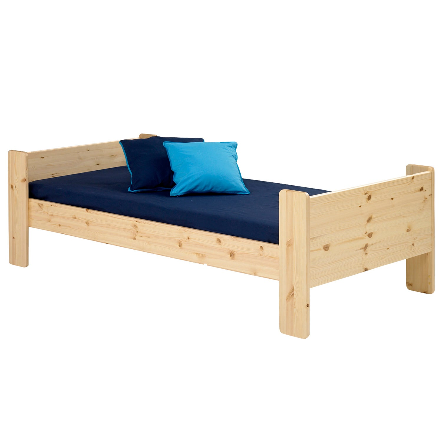 Popsicle Natural Twin-size Bed