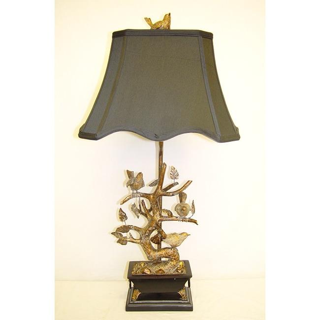 Brass Birds 1-light Table Lamp