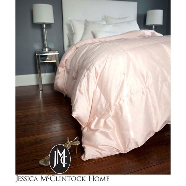 Jessica McClintock Pink Dupioni Silk Comforter