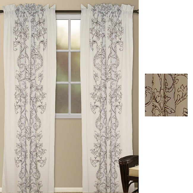 Wild Orchid 95-inch Curtain Panel Pair