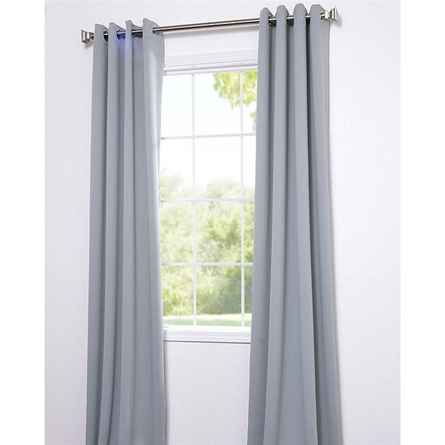 Exclusive Fabrics Purit Blue Thermal Blackout 120-inch Curtain Panel Pair