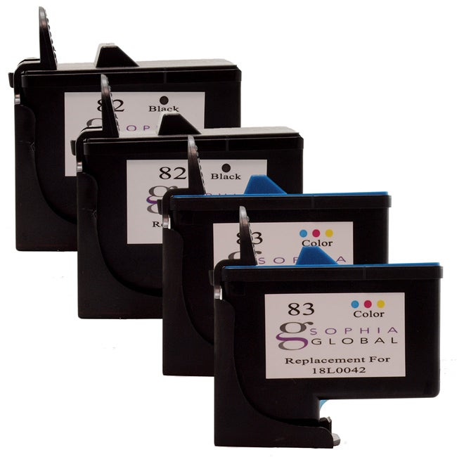 Lexmark 82/83 Ink Cartridge Combo (Pack of 4) (Remanufactured)