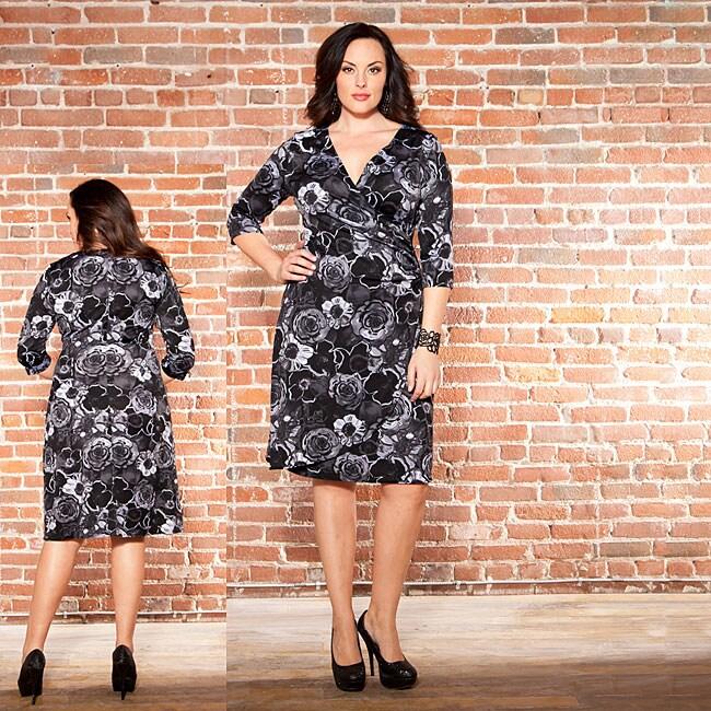 Kiyonna Women's Plus Size Samantha Floral Cinch Dress