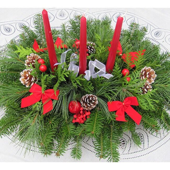 Fresh Balsam 3-Candle Centerpiece