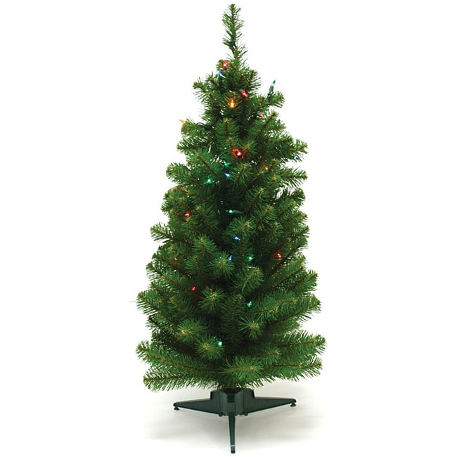Good Tidings 50 Multi-colored Light Canadian Tabletop Christmas Tree