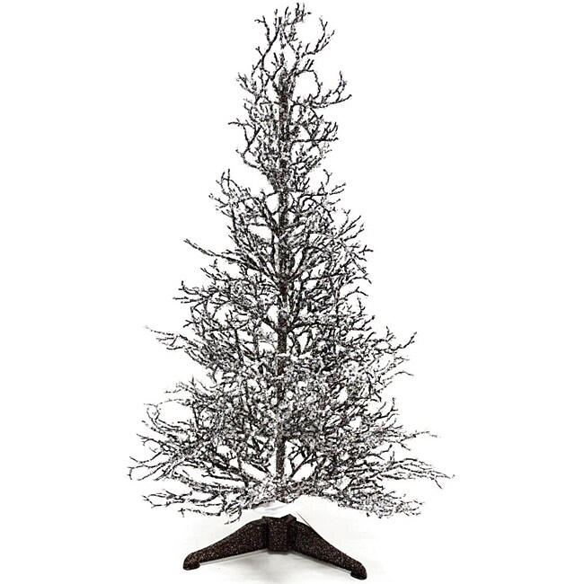 White Christmas Twig Tree