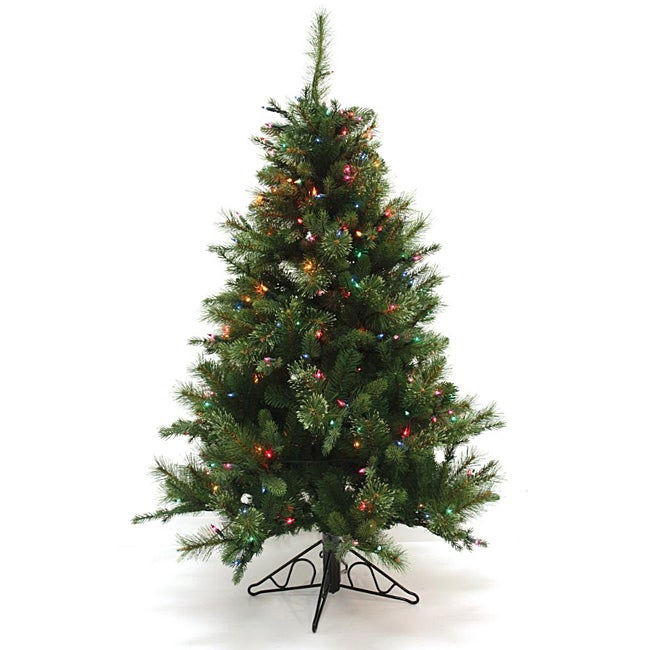 Good Tidings 96283 4.5-foot Slim PE Nordmann Fir Blue Christmas Tree