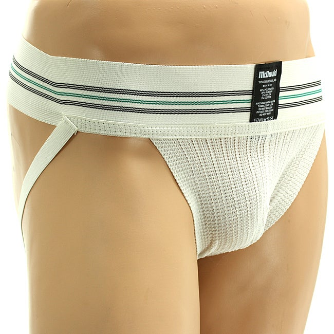 McDavid White Cotton/Polyester Youth Athletic Supporter (Three-pack)