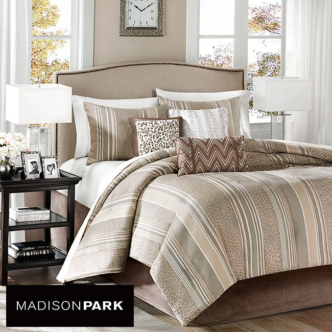 Madison Park Rollins 7-piece King/ Cal King-size Comforter Set - Thumbnail 0