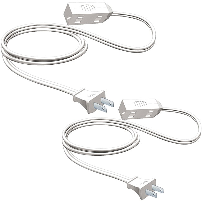 2 Pack-Stanley All Purpose Indoor Extension Cord-White