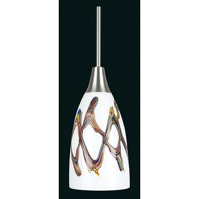 Satin Nickel One-light Mini Pendant
