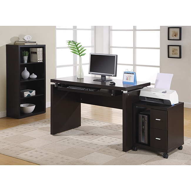 Cappuccino 48 inch long computer desk free shipping today 13967223 - Extra long office desk ...