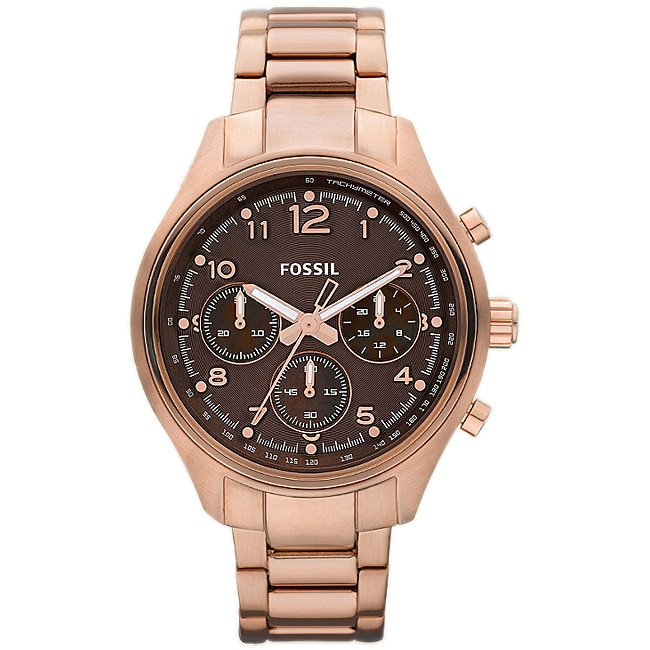 Fossil Men's 'Flight' Rose Goldtone Steel Chronograph Watch