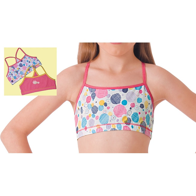 Girl's Cotton Racerback Camis (Pack of 2)