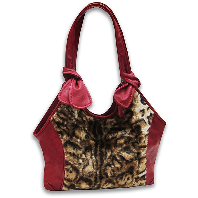 Marlo Lorenz Leopard Faux Fur Tote Bag