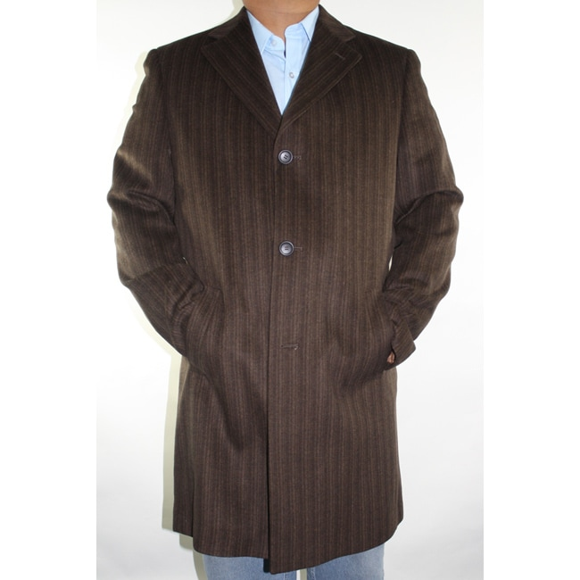 Ferrecci Men's Brown Wool-blend Coat