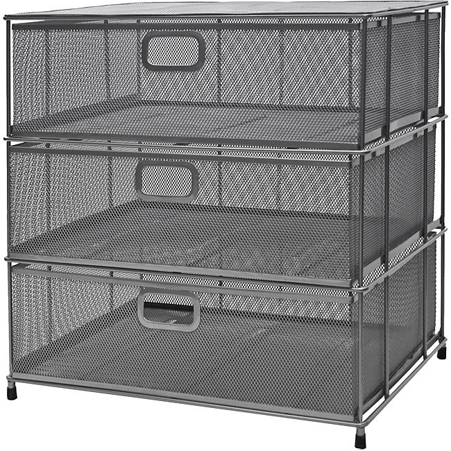 Organize It All Mesh 3 Drawer Unit Free Shipping Today Overstock Com 13970451