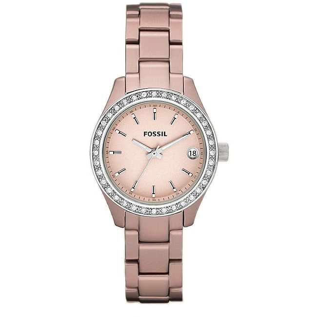 Fossil Women's 'Stella Mini' Aluminum Glitz Watch - Thumbnail 0