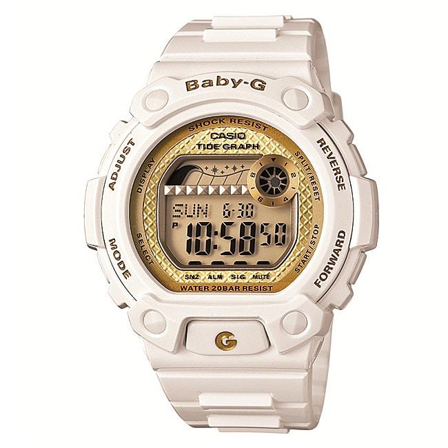 Casio Women's 'Baby-G' Multi-Function White Resin Digital Sport Watch