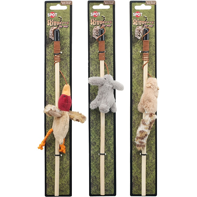 Skinneeez Forrest Friends Cat Nip Wands (Set of 3)