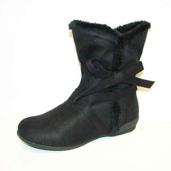 Carrini Faux Suede and Fur Booties