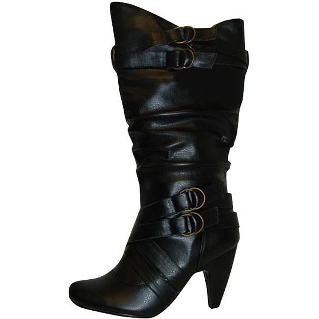 Carrini Ladies 4 Buckle Boots