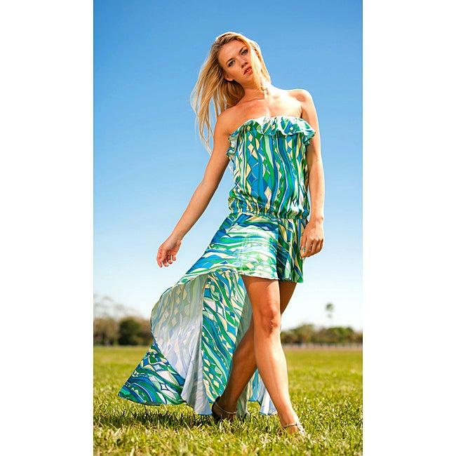 Rachel Lym Women's Strapless Cascade Maxi Swim Cover