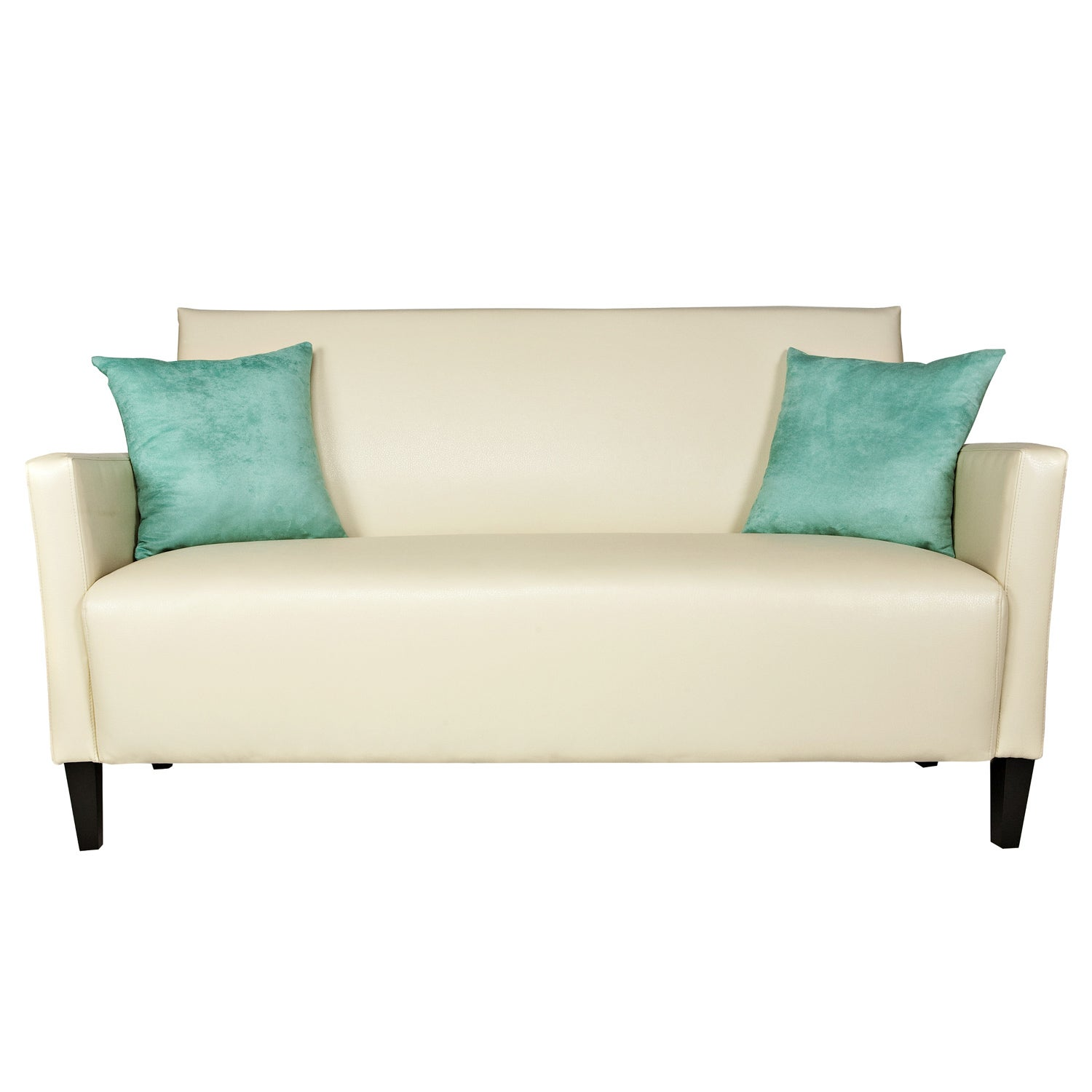 Rae Ivory Faux Leather Sofa