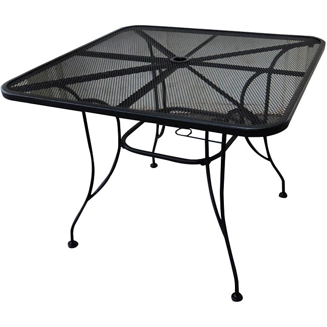 Wicker Lane 36 Inch Square Wrought Iron Dining Table