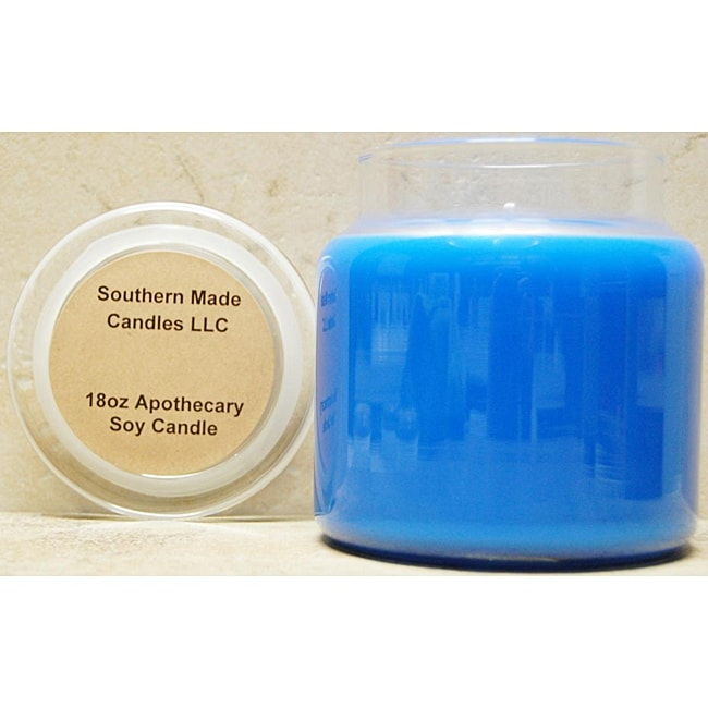 Southern Made Candles 18-oz Apothecary Blue Spruce Soy Candle