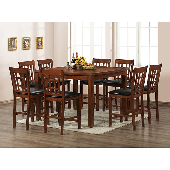 amber counter height dining set 7 pc free shipping today overstock