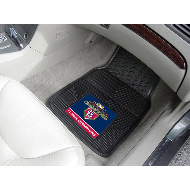 FANMATS MLB - St. Louis Cardinals 2011WORLDSERIES 2-pc Heavy Duty Vinyl Car Mat Set