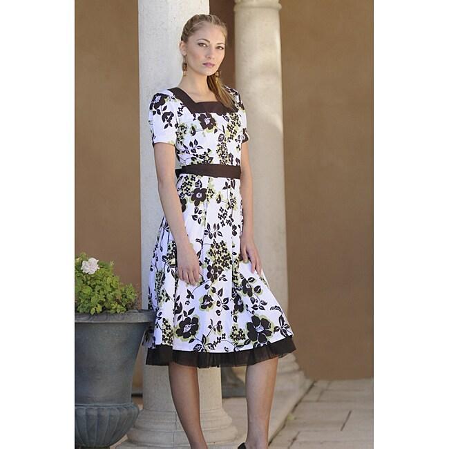 Sweet Innocence Dresses Brown/Green MaKennzie Floral Dress