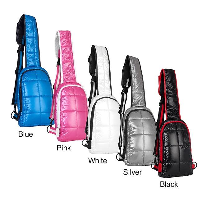 TGIF 'Cube' 13-inch Puffy Sling Bag