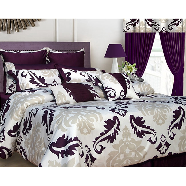 Elegance 12-piece California King-size Bed in a Bag with Deep Pocket Sheet Set
