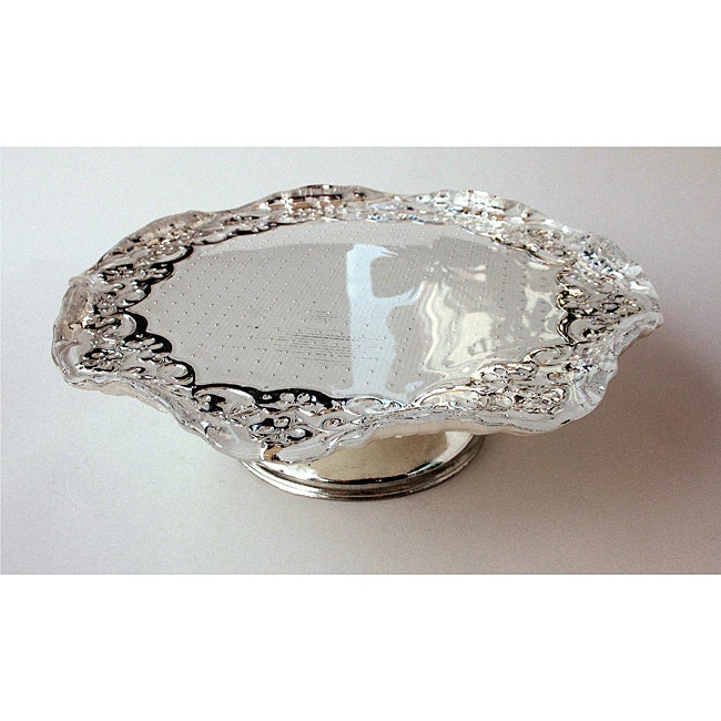 Lace Small Footed Cake Tray