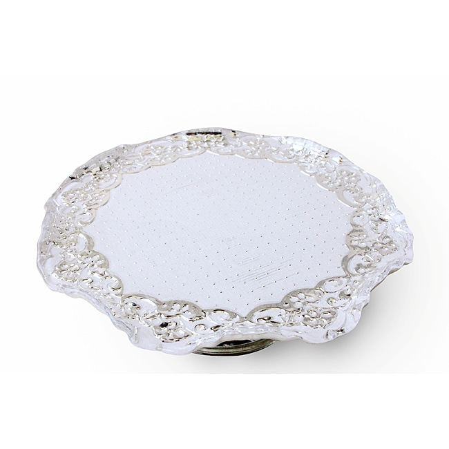 Lace Large Footed Cake Tray