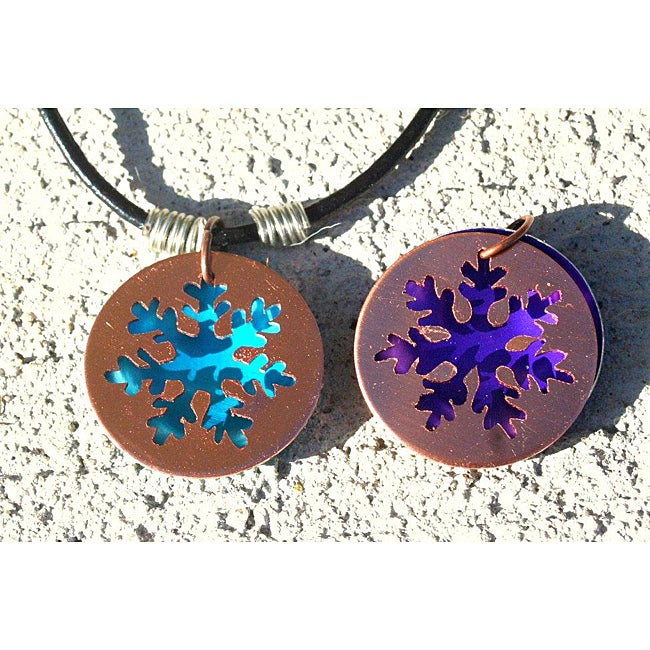 My Three Metals Copper Snowflakes Necklace (North Carolina)