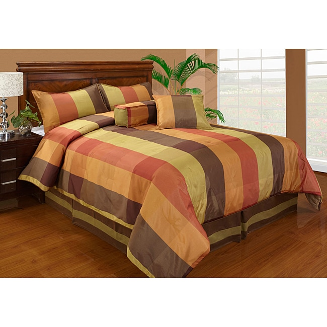 Jenna Plaid King-size 6-piece Comforter Set