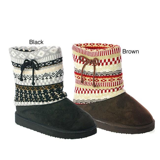 I-Comfort Women's 'Oakley' Fairisle Knit Boot