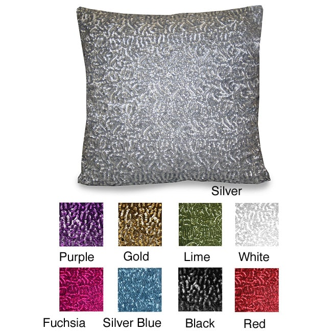 Rockefeller All Over Sequin Pillow (14 x 14)