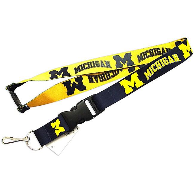 Michigan Wolverines Reversible Lanyard Keychain Ticket ID Holder