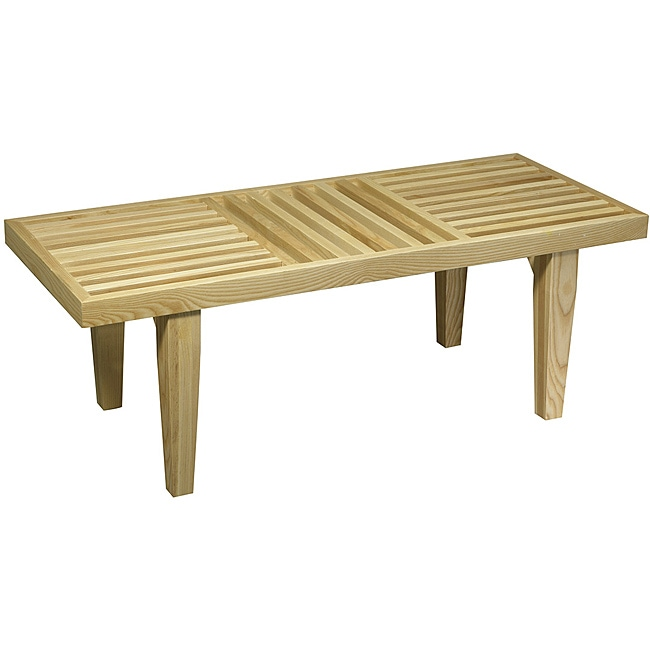 Avenue Six Plaza Slat Bench