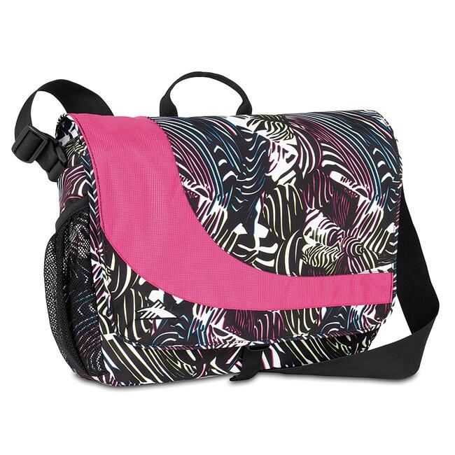 High Sierra Chip Messenger Zebra/Cerise Laptop Messenger Bag