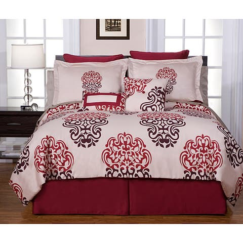Pointehaven Cherry Blossom 8-piece Comforter Set