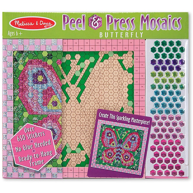 Melissa & Doug Butterfly Peel and Press Sticker by Number Set