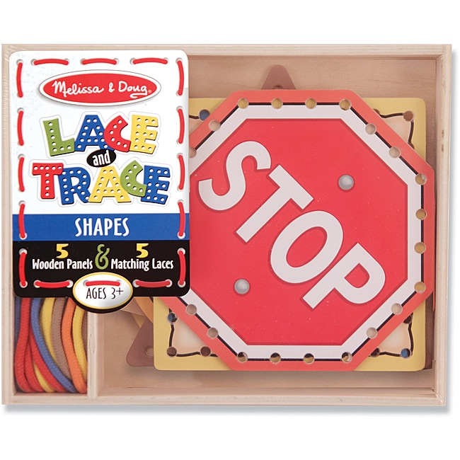 Melissa & Doug Lace and Trace Shapes Play Set